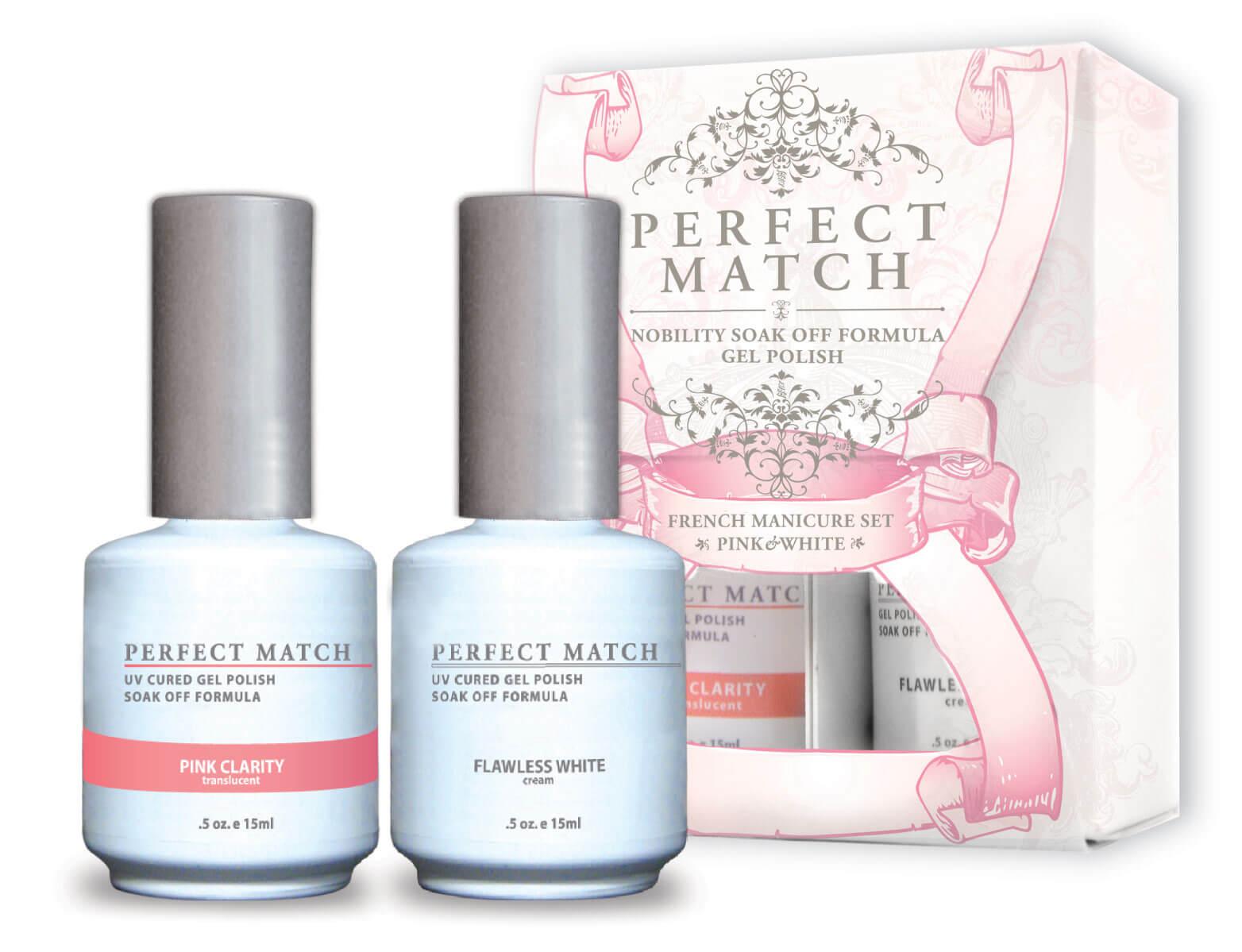 Perfect Match - French Manicure Set Pink & White - Lechat ...